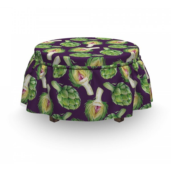 Artichokes Ottoman Slipcover (Set Of 2) By East Urban Home