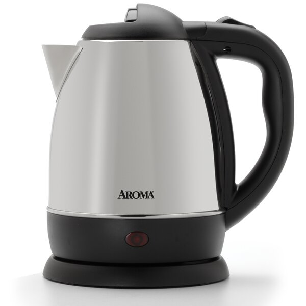 1.25 Qt. Stainless Steel Electric Tea Kettle by Aroma