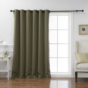 Scarsdale Extra Solid Blackout Thermal Grommet Single Curtain Panel Part 75