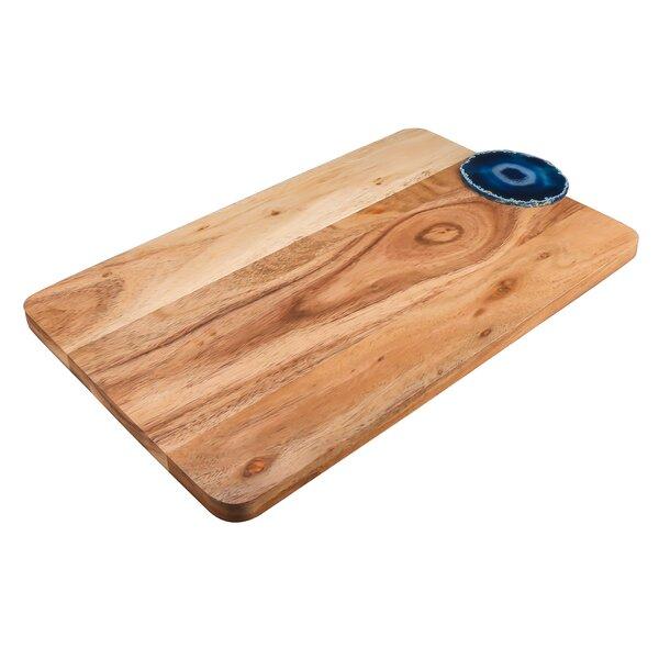 Emmaus 16 Acacia Wood Serving Cheese Board and Platter by World Menagerie