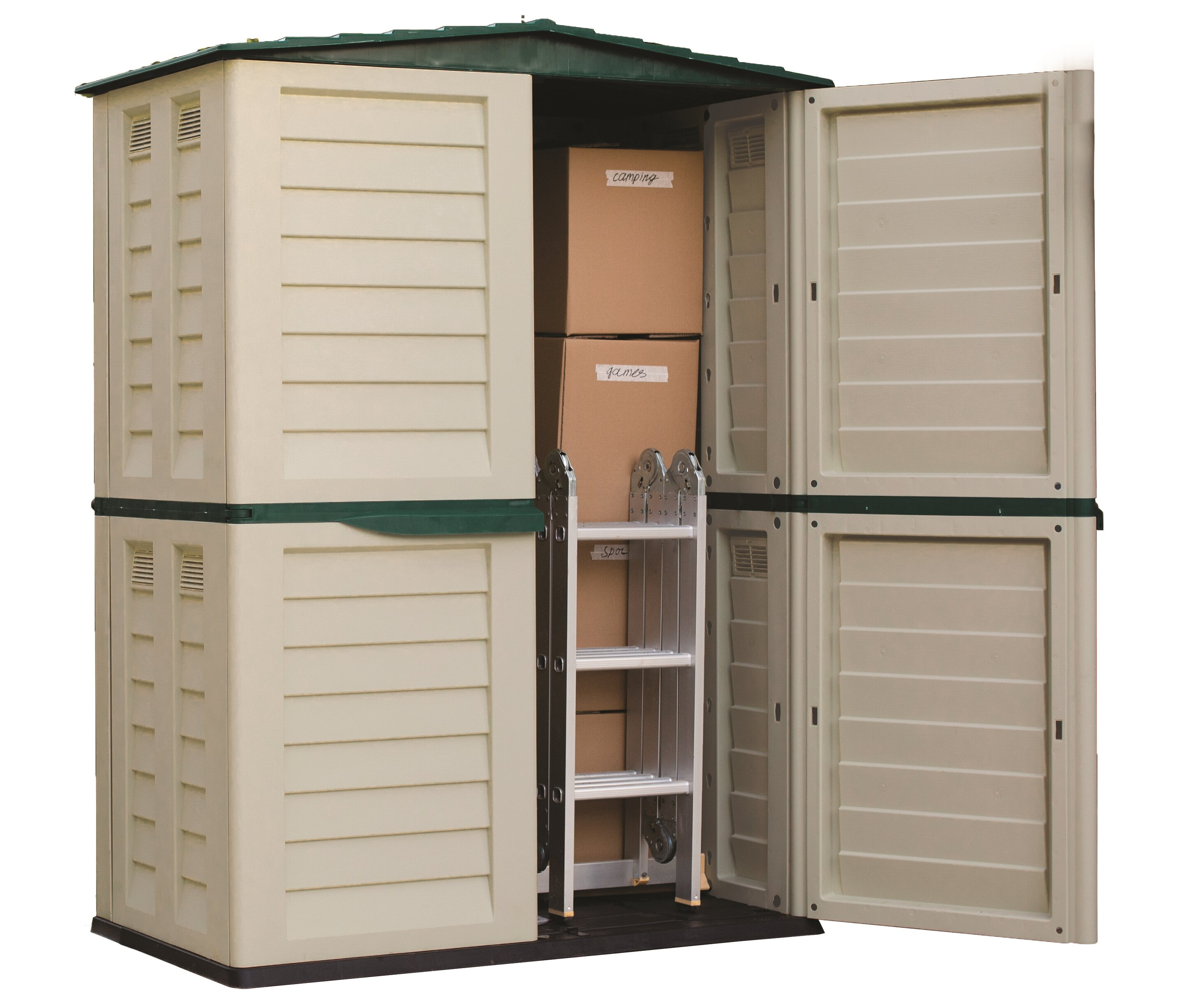 wayfair shed sheds utility d in garbage rubbermaid ft can plastic keyword w storage horizontal x