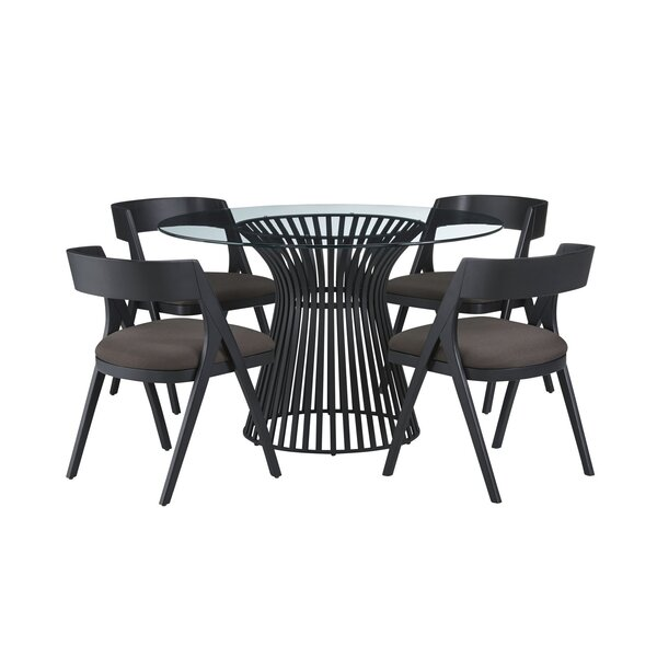 Dungannon 5 Piece Dining Set by Brayden Studio