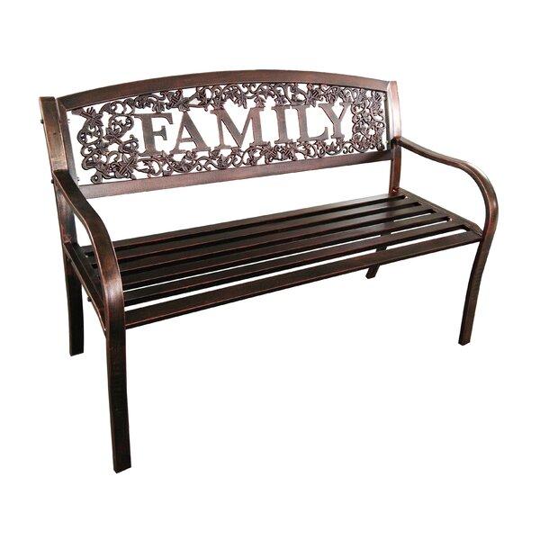 Mooresville Family  Steel Garden Bench by Winston Porter Winston Porter