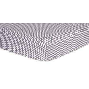 Affordable Topping Chevron Fitted Crib Sheet ByHarriet Bee