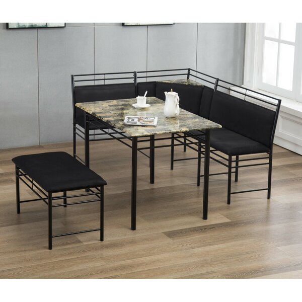 Tyrell 3 Piece Breakfast Nook Dining Set by Winston Porter