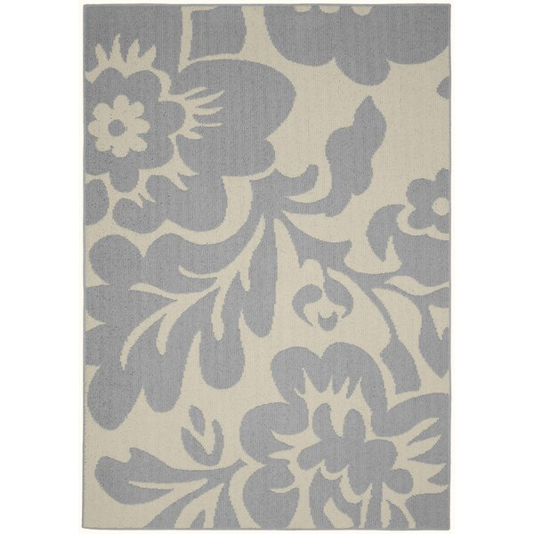 Floral Garden Silver/Ivory Area Rug by Garland Rug