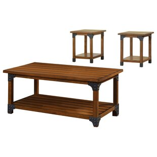 Windle Country 3 Piece Coffee Table Set Loon Peak Great price