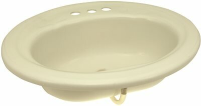Plastic Oval Drop-In Bathroom Sink with Overflow by Premier Faucet