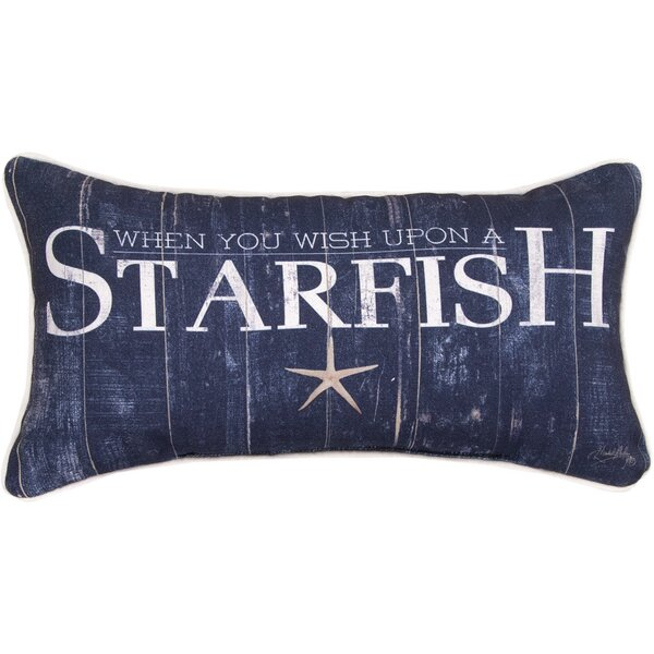 When You Wish Upon a Starfish Lumbar Pillow by Manual Woodworkers & Weavers