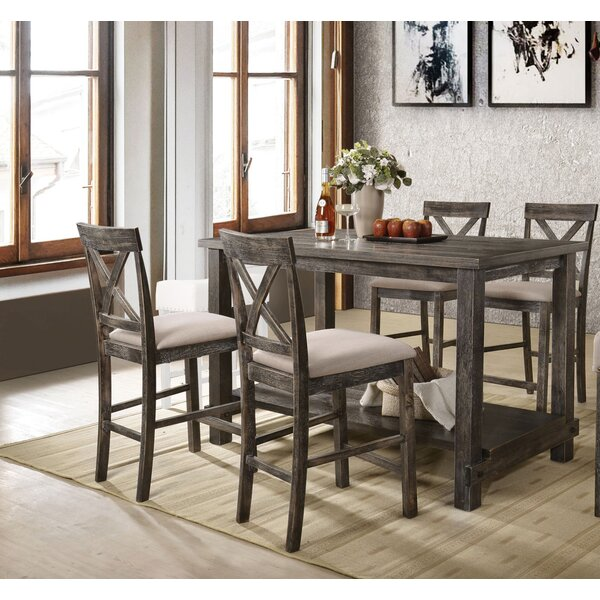 Vanderpool 5 Piece Counter Height Dining Set by Gracie Oaks Gracie Oaks