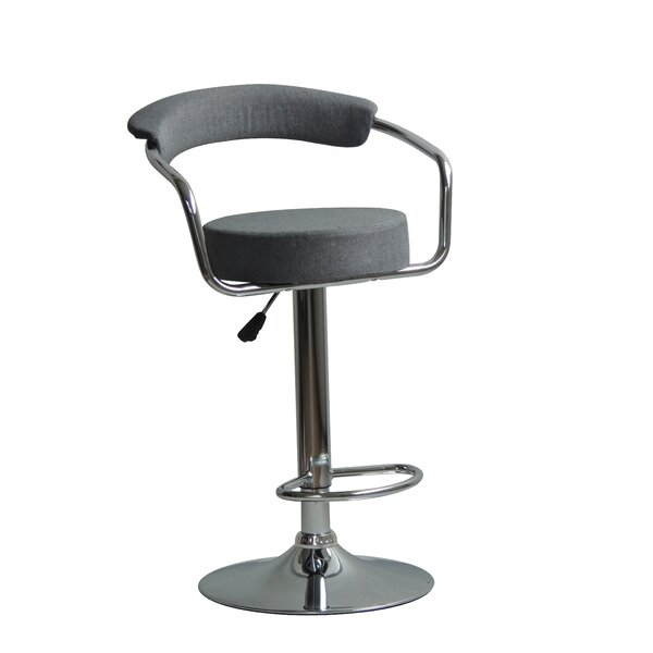 Hutter Adjustable Height Swivel Bar Stool (Set of 2) by Orren Ellis Orren Ellis