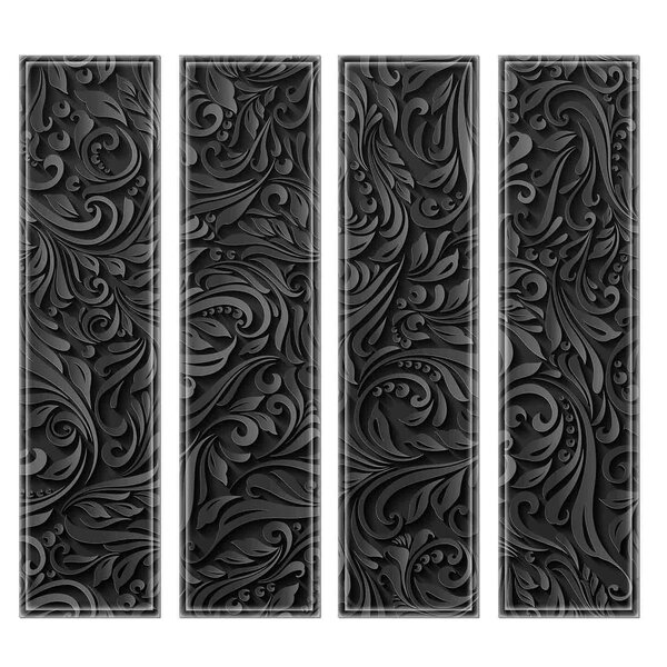 Crystal 3 x 12 Beveled Glass Subway Tile in Black by Upscale Designs by EMA