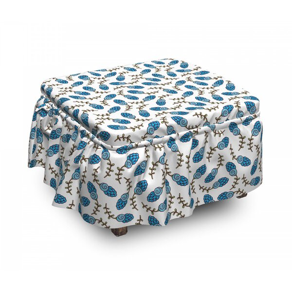 Rustic Country Spring Ottoman Slipcover (Set Of 2) By East Urban Home