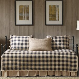 Buffalo Check 100% Cotton 5 Piece Daybed Set