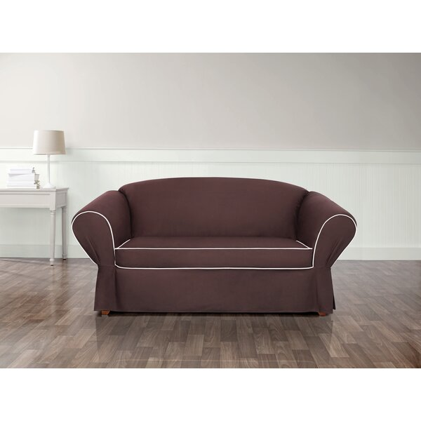 Tailored Box Cushion Loveseat Slipcover By Sure Fit