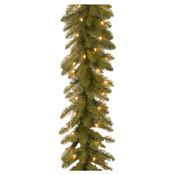 Fir Pre-Lit Garland by Three Posts
