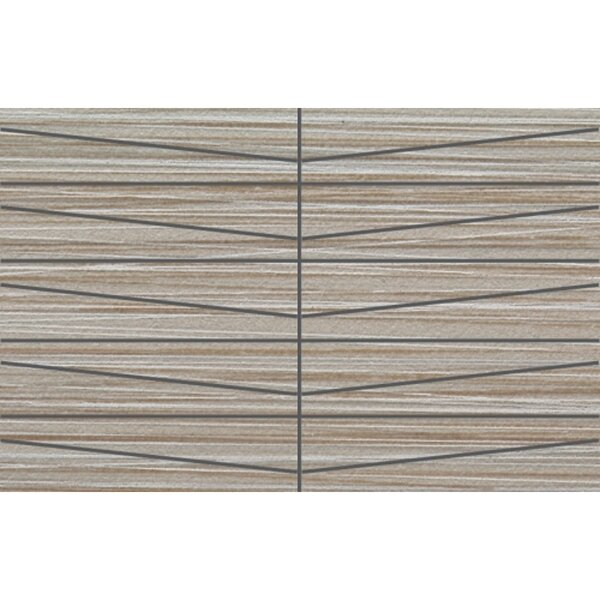 Bamboo Oblong 12 x 24 Porcelain Mosaic Tile in Gris Linen by Travis Tile Sales