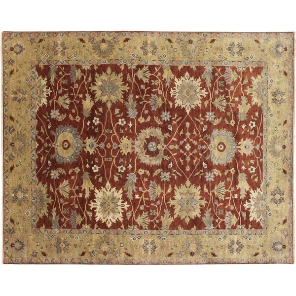 One-of-a-Kind Mahal Fine Zareen Hand-Knotted Rust Area Rug by Noori Rug