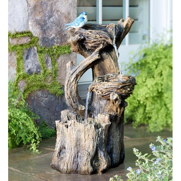 Resin Birds Nest Garden Fountain by Plow & Hearth