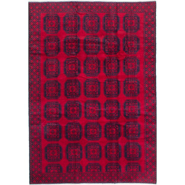 One-of-a-Kind Bridges Hand-Knotted Red/Black Area Rug by Bloomsbury Market