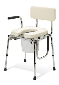 Drop Arm Commode By Guardian.