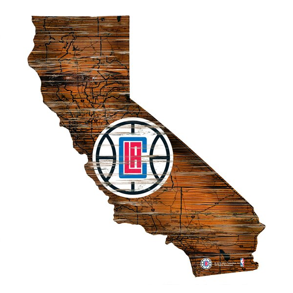 NBA Clippers Distressed State Wall Décor by Fan Creations
