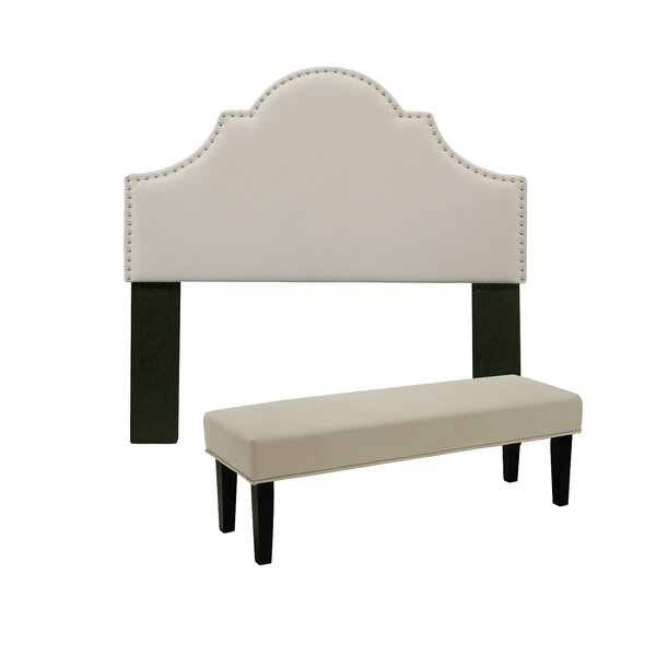 Stepanie Upholstered Panel Headboard and Bench by Darby Home Co