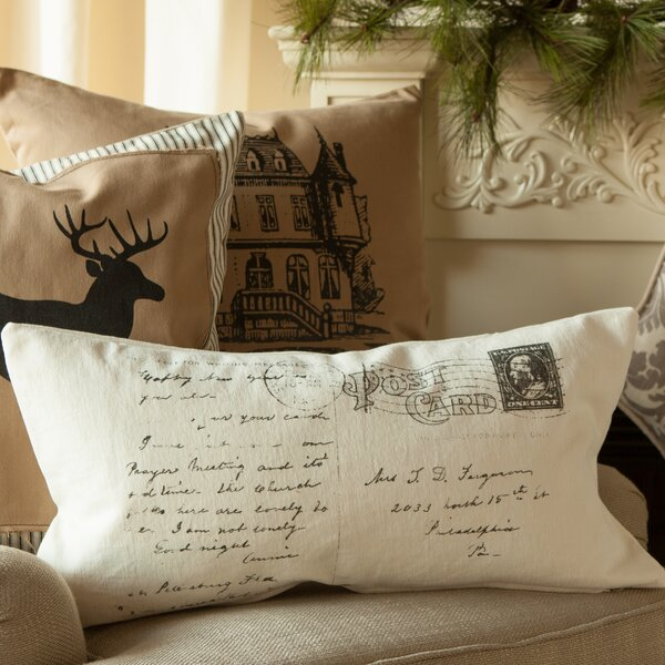 Jumping Deer Down Throw Pillow by Provence Home Collection
