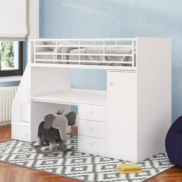 Ray Single High Sleeper Bed With Furniture Set