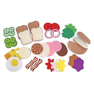 Compare prices 33-Piece Felt Food Sandwich Set ByMelissa & Doug