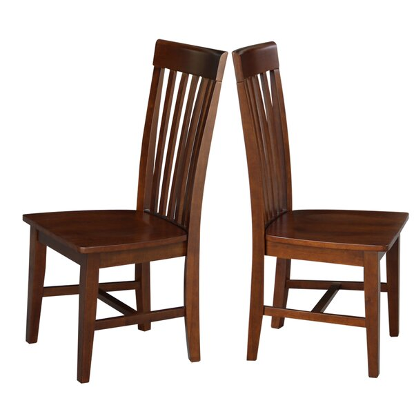 Aziz Solid Wood Dining Chair (Set of 2) by Red Barrel Studio