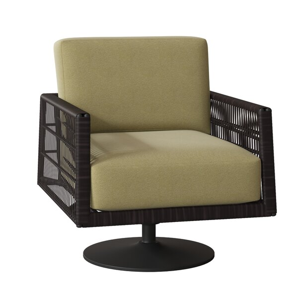Maiz Swivel Patio Chair with Cushions by Woodard