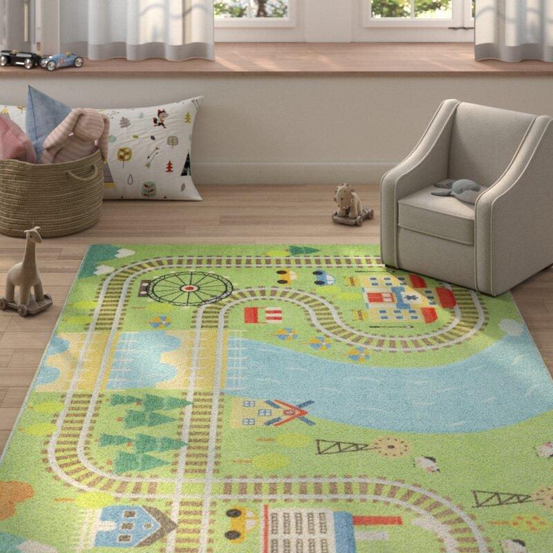 Area Rugs Home Garden Lovely City Car Track Pattern Area Rugs Kids Bedroom Rug Living Room Floor Mat Adrp Fournitures Fr