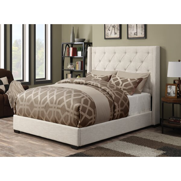 Fares Upholstered Wingback Bed by Lark Manor