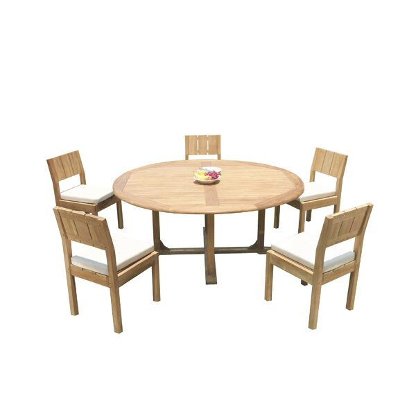 Joice 6 Piece Teak Dining Set by Rosecliff Heights