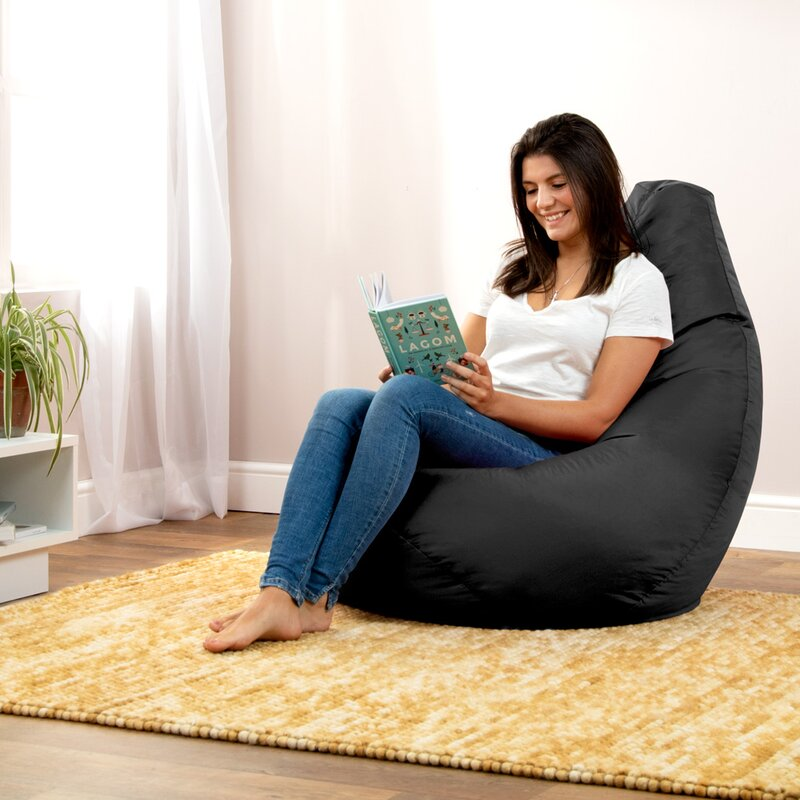 Water Resistant Gaming Bean Bag For Living Room High Back Bean Bag Chair