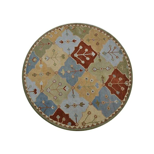 Crider Hand-Tufted Wool Blue/Brown Area Rug by August Grove