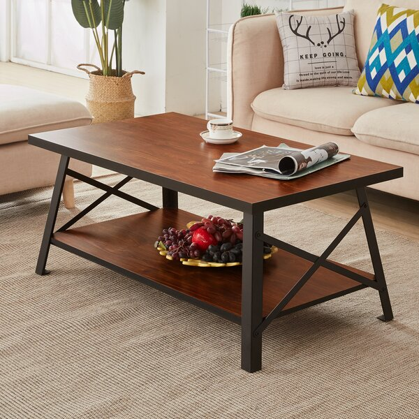 Drew Solid Wood Coffee Table by Andover Mills
