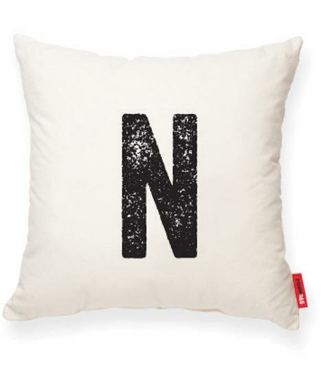 Dolton Letter N Throw Pillow by Gracie Oaks