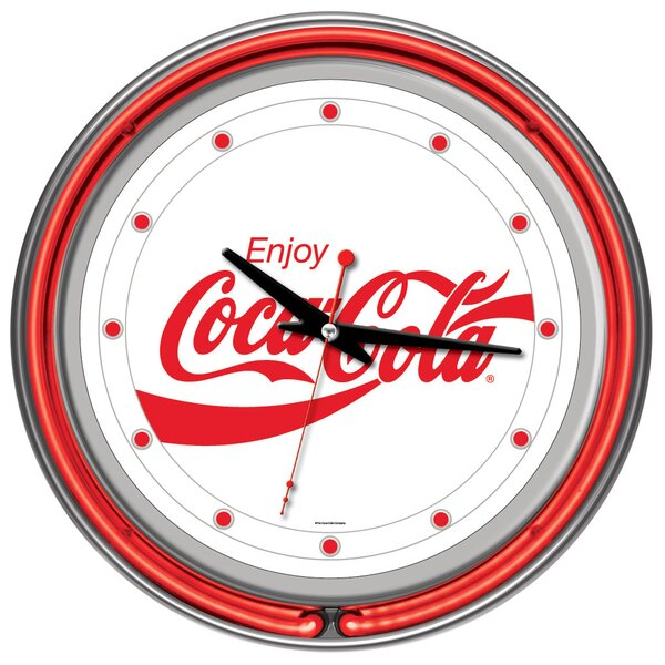 14 Enjoy Coke Wall Clock by Trademark Global