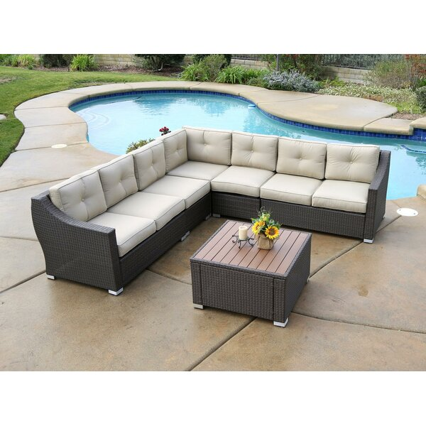 Lanclos 8 Piece Sectional Group with Cushions by Alcott Hill