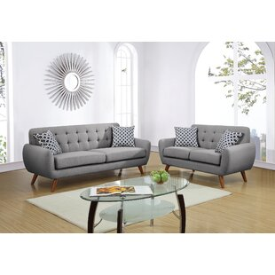 Faircloth 2 Piece Living Room Set by Mercury Row®
