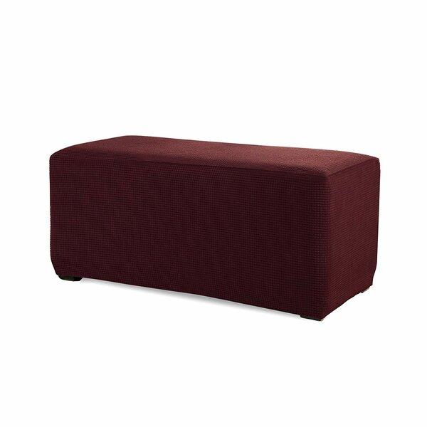 Spandex Stretch Storage Ottoman Slipcover by Red Barrel Studio