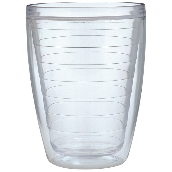 Ribbed 16 oz. Plastic Every Day Glass (Set of 4) by Chenco Inc.