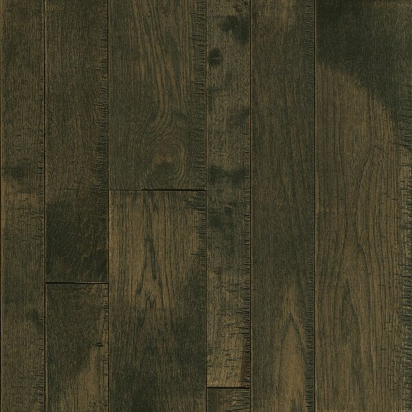 Random Width Solid Hickory Hardwood Flooring in Dark Sky by Armstrong Flooring