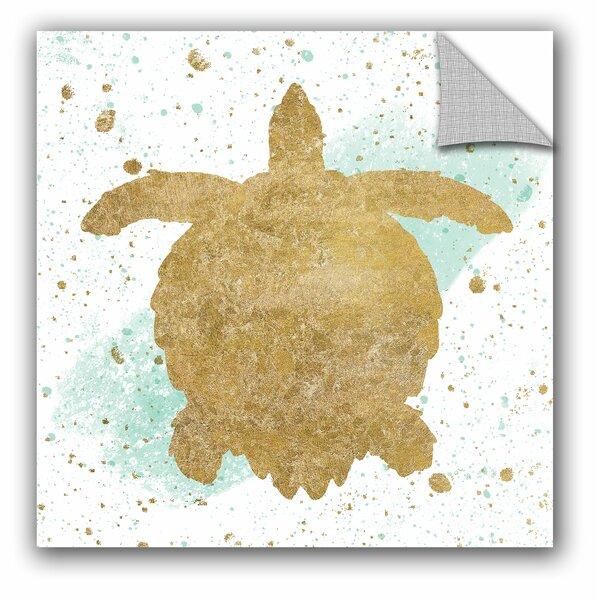 Wild Apple Silver Sea Life Aqua Turtle Wall Decal by ArtWall