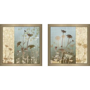'Delicate Fields II' 2 Piece Framed Graphic Art Print Set Under Glass by Andover Mills