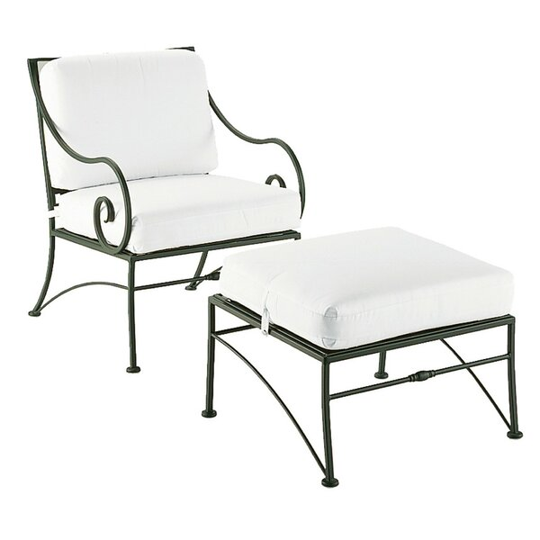 Sheffield Patio Chair with Ottoman by Woodard