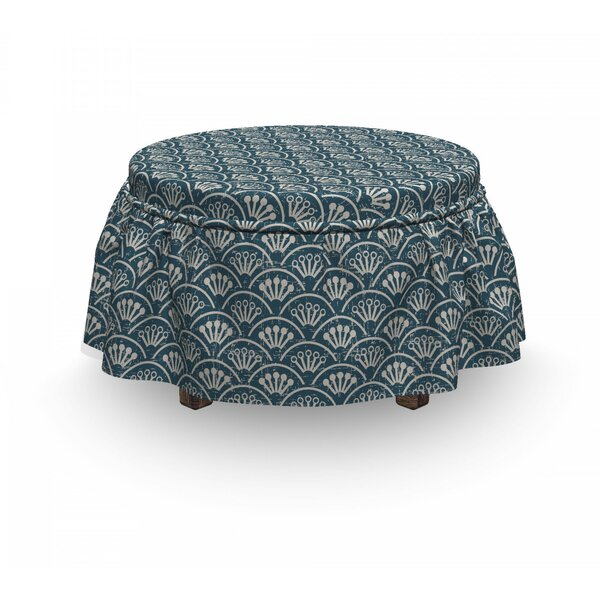 Scale Flower Buds Ottoman Slipcover (Set Of 2) By East Urban Home