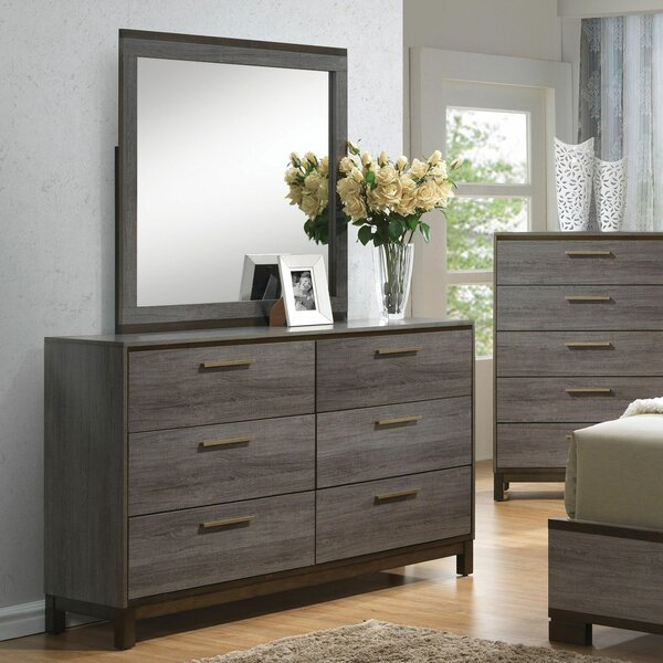 Melra 6 Drawer Double Dresser with Mirror by Brayden Studio